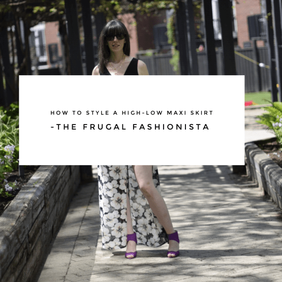 The Frugal Fashionista: How to Style a High-Low Maxi Skirt