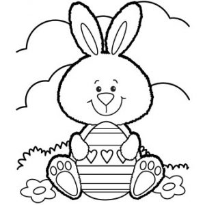 Free Printable Easter Bunny Coloring Page The Frugal Free Gal