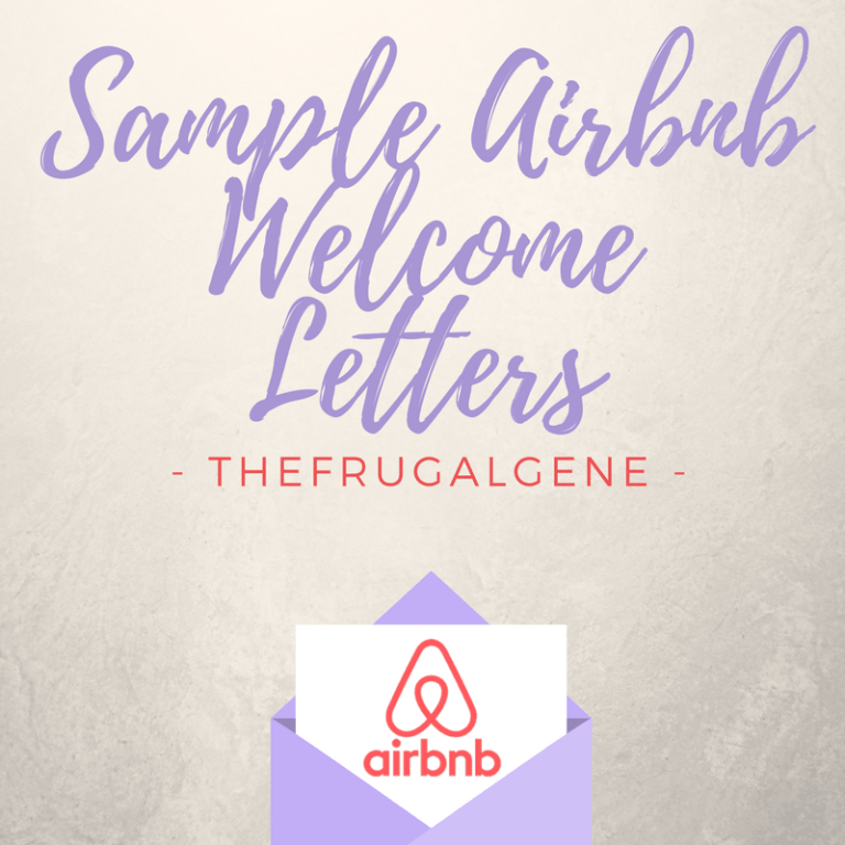 free sample airbnb welcome letters