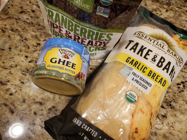 Imperfect Foods Review 2021 Pantry Items Garlic Bread Salad Toppings Ghee