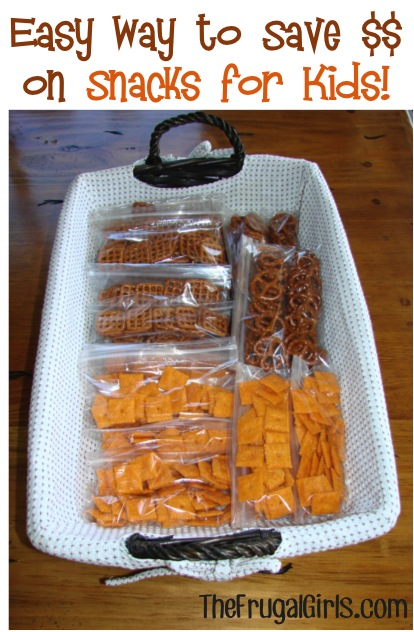 After School Snacks for Kids - Simple Trick to Save Money at TheFrugalGirls.com