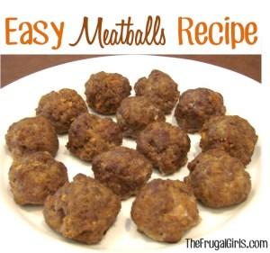 Easy Homemade Meatballs Recipe
