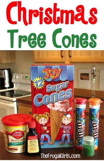 Christmas Tree Cones Craft for Kids - from TheFrugalGirls.com
