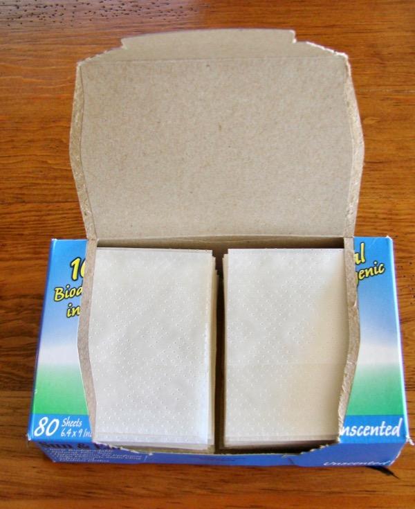 Cut Dryer Sheets in Half