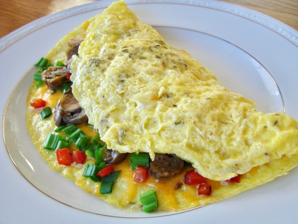 Easy Omelette Recipe Ham and Cheese