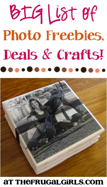 BIG List of Photo Freebies, Deals and Crafts - from TheFrugalGirls.com