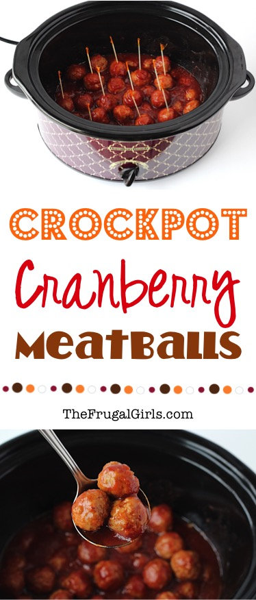 Cranberry Meatballs Recipe at TheFrugalGirls.com