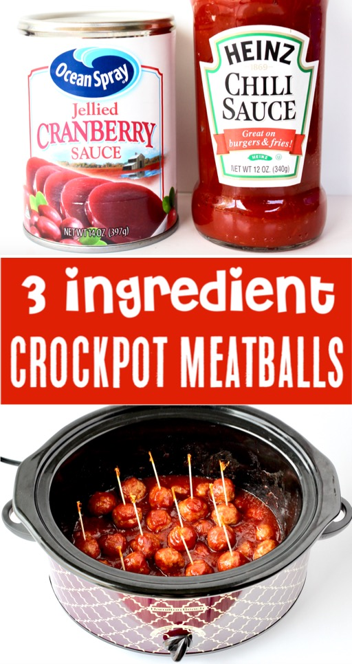 Crockpot Meatballs Easy Chili Sauce Cranberry Meatball Recipe