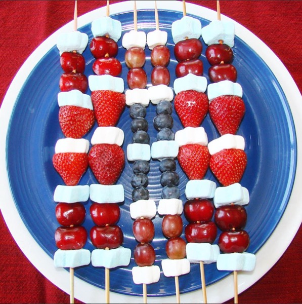4th of July Fruit Kabobs Recipe Easy
