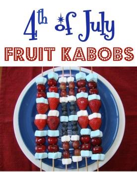 4th of July Fruit Kabobs Recipe Patriotic