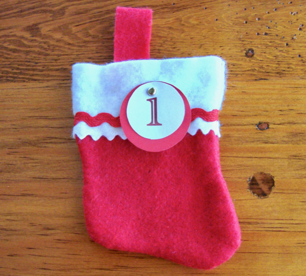 Advent Calendar with Stockings