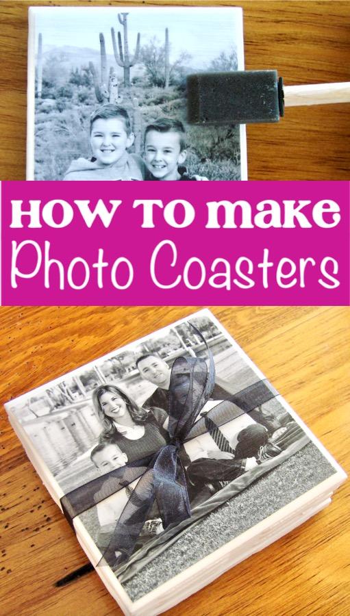 Photo Coasters - How to Make DIY Tile Photo Coaster