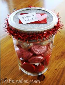 Valentines Day Kisses in a Jar