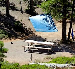 Camping Tarp Shade Trick