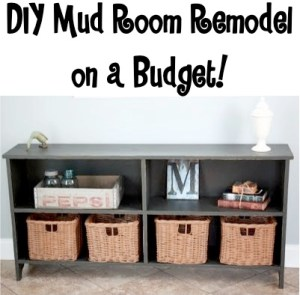 DIY Mud Room Remodel on a Budget