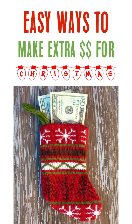 Make Extra Money for Christmas - Easy Tips from TheFrugalGirls.com