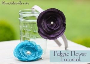 Fabric Flower Headbands