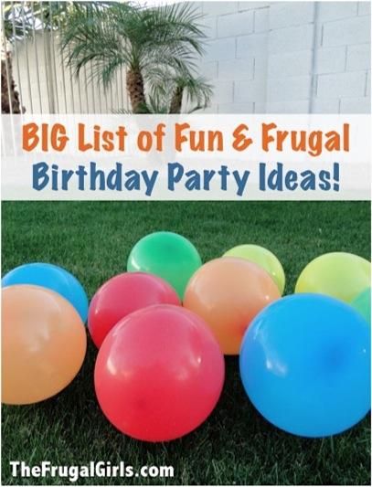 fun frugal birthday party
