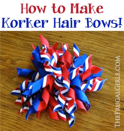 How to Make Korker Hair Bows at TheFrugalGirls.com