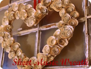 Sheet Music-Wreath