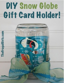 DIY Snow Globe Gift Card Holder