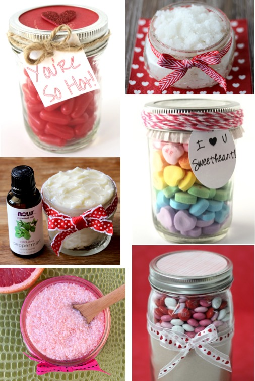 Gifts in a Jar Recipes Valentine's Day