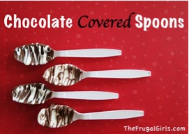 How to Make Chocolate Covered Spoons