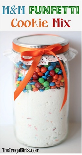 M&M Funfetti Cookie Mix in a Jar