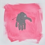 Canvas elephant handprint art (1)