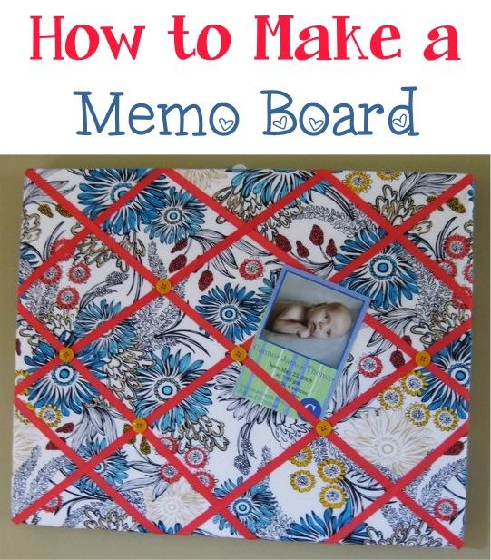 DIY Memo Board at TheFrugalGirls.com