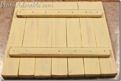 DIY Mini Faux Pallet Boards