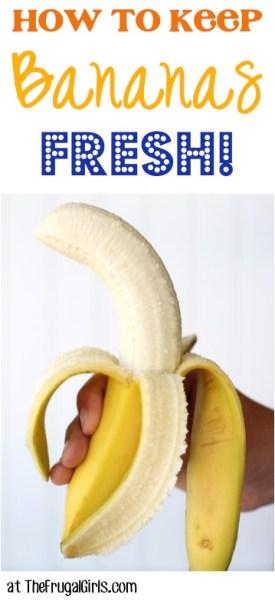 How to Keep Bananas Fresh Tip at TheFrugalGirls.com