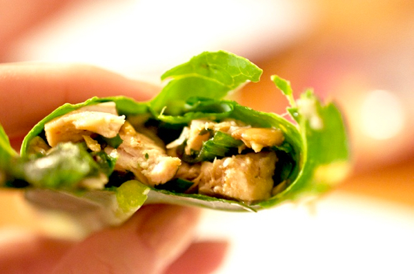 Low Carb Chicken Wraps with Lettuce