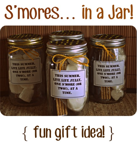 S'mores in a Jar Gift Idea at TheFrugalGirls.com