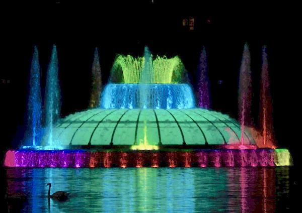 Lake Eola fountain in downtown Orlando Florida