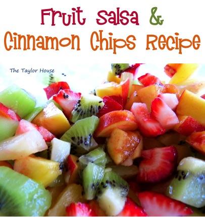 Fruit Salsa Recipe and Cinnamon Chips Recipe at TheFrugalGirls.com
