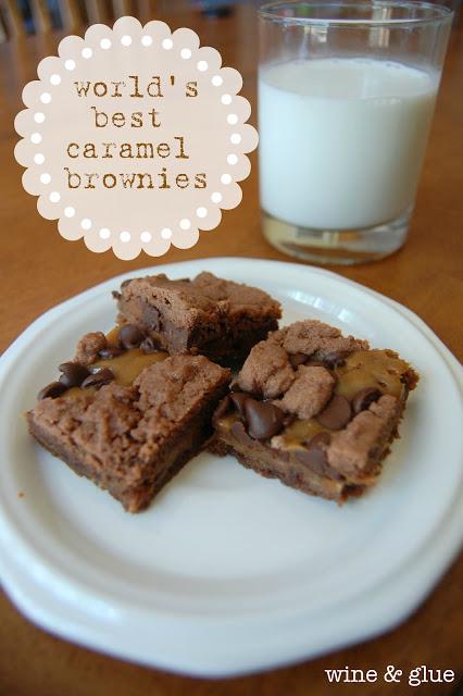 Caramel Brownie Recipe with Cake Mix