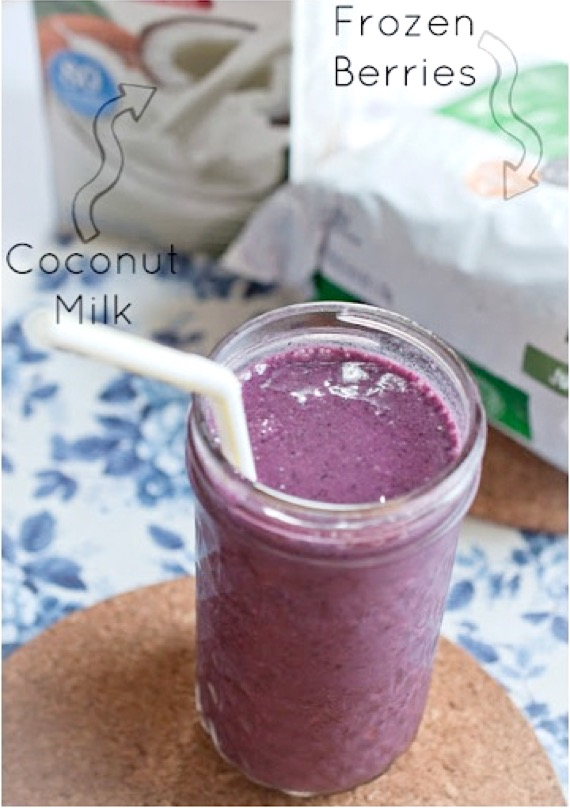 Mixed Berry Coconut Smoothie