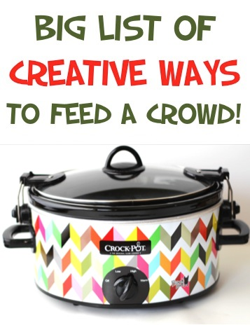 Easy Recipes to Feed a Crowd on a Budget - from TheFrugalGirls.com