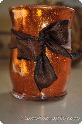 DIY Fall Glitter Vase