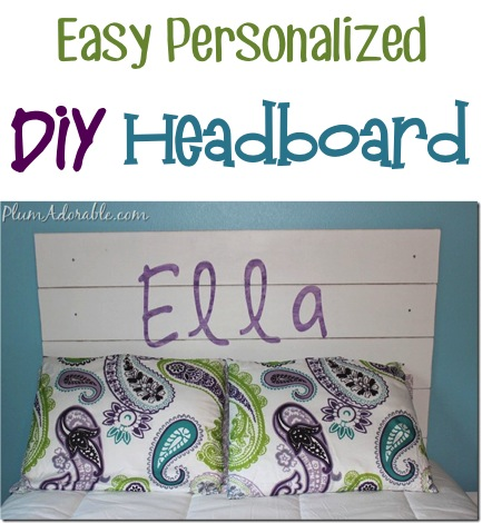 Easy Personalized DIY Headboard at TheFrugalGirls.com