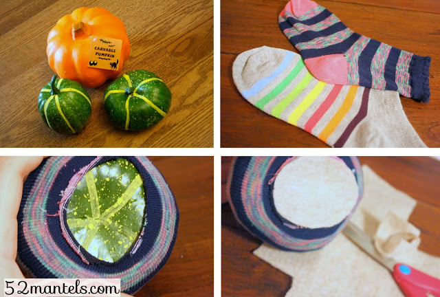 Easy Sock Pumpkin Craft