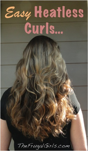 Heatless Curls-Sock-Bun