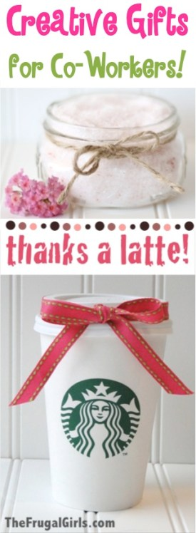 Creative Co-Worker Gift Ideas from TheFrugalGirls.com