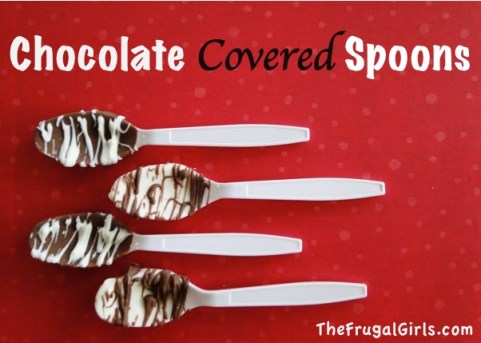 Chocolate Covered Spoons from TheFrugalGirls.com