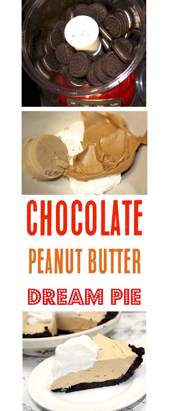 Chocolate Peanut Butter Pie Easy No Bake Recipe