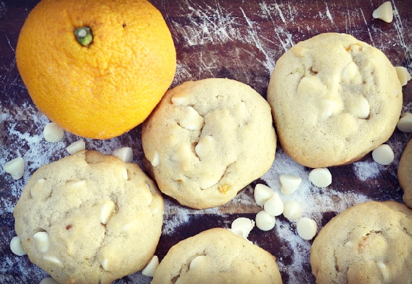 White Chocolate Chip Cookies with Orange Zest