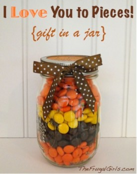 I Love You to Pieces Reeses Pieces Gift in Jar