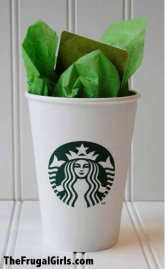 DIY Starbucks Coffee gift card holder