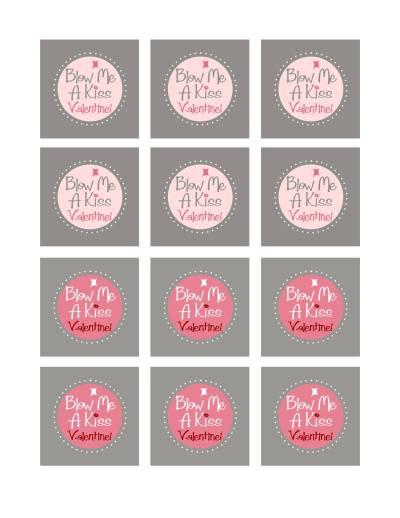 Blow Me a Kiss Valentine Printable
